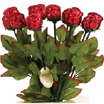 Single Red Chocolate Roses - 36ct