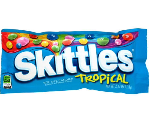 Skittles Tropical Tropical Fruit Candy Yogurt Toppings