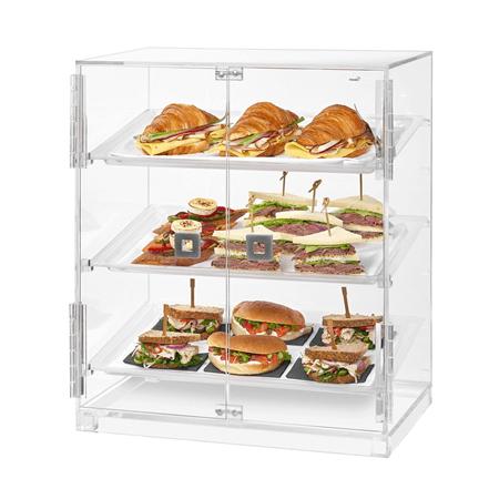 Small 2 DOOR Bakery Cabinet w/ 3 Trays