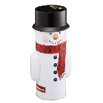 Snowman Tin w/ Mini Star Shortbread - 6ct