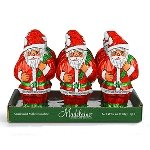 Foil Santa Solid Chocolate - 6oz - 12ct