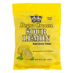 Sour Lemon Hard Candy Twist Peg Bag - 12ct