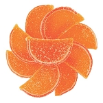 Sour Peach Fruit Slices - 5lbs