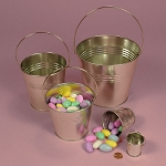 Small Steel Pails w/Handles - 12ct