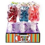Sugar Bear Gummy Lollipops - 24ct