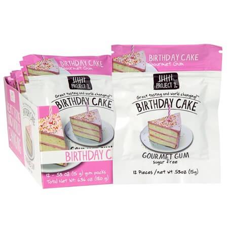 Awesome Sugar Free Birthday Cake Gum Resealable Chewing Gum Gum Funny Birthday Cards Online Elaedamsfinfo