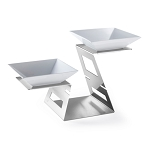 Multi-Level Stainless Swan Riser Set
