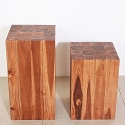 Teak Block Stand - Hand Carved - Finish Options