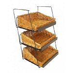 3 Tier Willow Basket Counter Display - Stackable