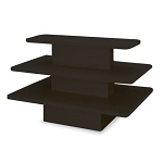 Black Rectangle 3 Tier Display Table