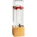Bamboo Beverage Dispenser - 3 Gallon