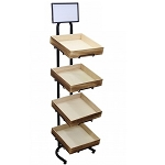 Four Tiered Wooden Crate Display Stand