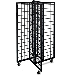 Black 4-Way Gridwall Merchandiser