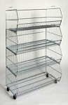 4-Tier Chrome Stacking Basket Display