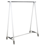 White A-Frame Metal Hang Rail Display