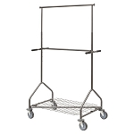 Adjustable Double Rail Rolling Garment Rack