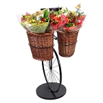 Bicycle Display Stand With 2 Baskets - Choose Basket