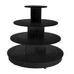 Black 4 Tier Table with Casters