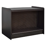 Black Gondola Checkout Counter w/Pegboard Back