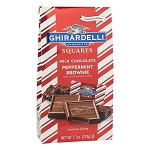 Ghirardelli Chocolate Peppermint Brownie Squares