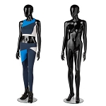 Premium Glossy Black Female Full Body Mannequin