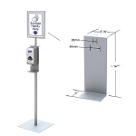 Hand Sanitizer Dispenser Stand With Sign Holder
