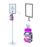 Sanitizing Wipe Stand With Sign Holder