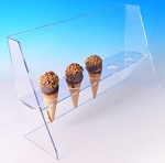Ice Cream Cone Holder W/ Guard For Waffle Cone