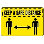 Keep A Safe Social Distance Safety Mat