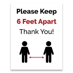 Keep Social Distancing Sign Posters 8.5 X 11 - 10ct