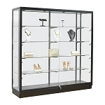LED Spotlight Black Frame Glass Display Case