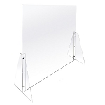 "Large Acrylic Sneeze Guard Counter Shield Adjustable Height - 47""W"