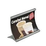 Curved Metal Counter Sign Holder - 6