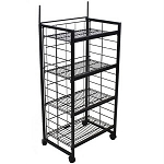 Mobile Wire 4 Adjustable Shelves Rack