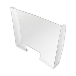 Plastic Sneeze Guard Counter Barrier w/Cutout Window - 33