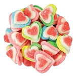 Rainbow Gummy Triple Hearts