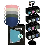 Reusable Color Face Mask 288 Packs and Display Rack
