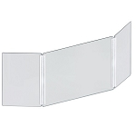 Acrylic Tri-Fold Protective Personal Shield Barrier