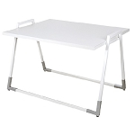 White Melamine U-Shaped Display Table