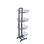 Adjustable Wire Floor Rack - 4 Baskets