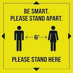 Be Smart Stand Apart Vinyl Floor Decal - 10ct