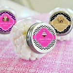 Birthday Candy Glass Jars - Personalized - 24ct