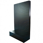 Black L Shape Slatwall Merchandiser