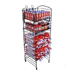 Black Matte 5 Shelf Fold Up Rack