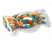 Clear Shaped Candy Box - 24ct