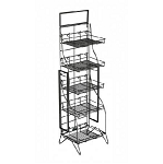 Fold Up Display Rack - 5 Shelves