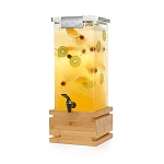 Locking Beverage Dispenser - Bamboo Base