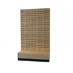 Maple L Shape Slatwall Merchandiser