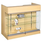 Maple Ledgetop Counter With Showcase - 48