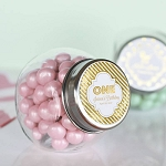 Metallic Foil Birthday Glass Candy Jars - 24ct